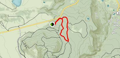 Pole Knoll and Raven Loop  Map