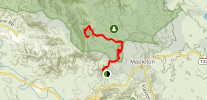 Mapleton Falls to Gheerulla Falls Map