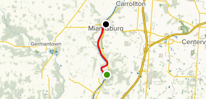 Great Miami River Recreation Trail: Franklin to Miamisburg Map