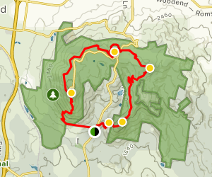 Hemphill Track, Sanatorium Lake, Camels Hump, Mount Macedon Loop Map