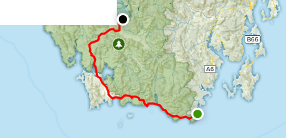 South Coast and Port Davey Track Map