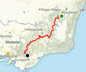 Australian Alps Walk Track North to South Map