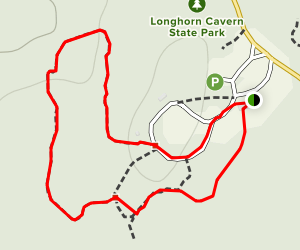 Longhorn Cavern Nature Trail Map