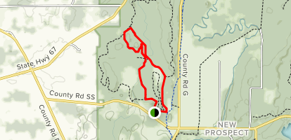 Zillner Green and Red Loop Map