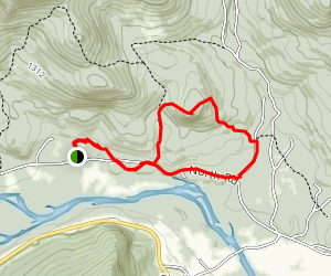 Mount Crag via Gates Brook and Yellow Trail  Map