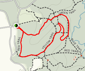 Thompson Green, Yellow, Orange, Yellow, and Red Loop Map