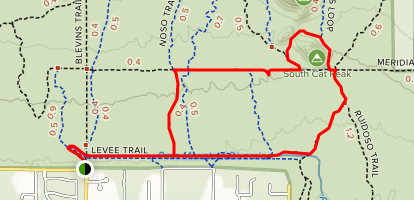 South Cats Peak via Channel Trail Loop Map