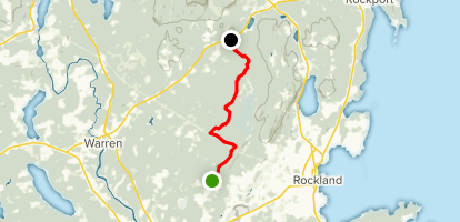 Georges Highland Path: Oyster River Bog Trail Map
