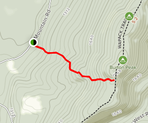 Berry Pasture Trail to Wapack Trail from Mountain Road Map