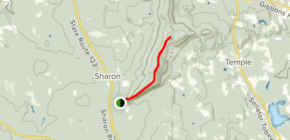 Burton and Holt Peaks via Wapack Trail from Temple Road Map