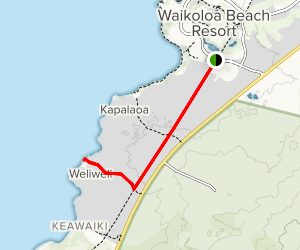 Weliweli via King's Highway Foot Trail Map