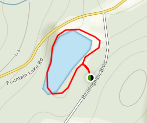 Fountain Lake Reservoir Map