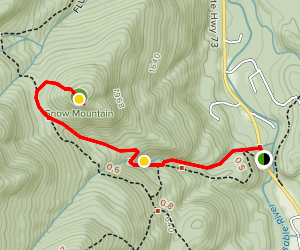 Snow Mountain Trail Map