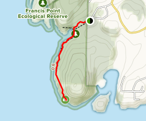 Francis Point Lighthouse  Map