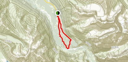 Rodak, Cow Pass, and Dew Mound Loop Map