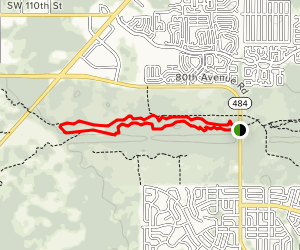 Cross Florida Greenway Ross Prairie Section from Highway 484 Map