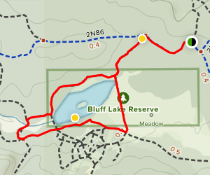 Bluff Lake Reserve Loop Map