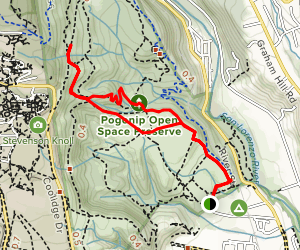 Brayshaw Trail to Spring Box Trail Loop Map