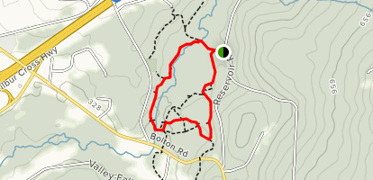 Belding Blue Trail to Yellow Trail Loop  Map