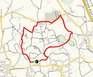 Brazza Castle to Provincial Road of the Four Winds Loop Map