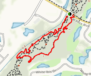 NW of Bridge and Bee Line Loop via Southwest Trail Map