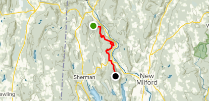 Housatonic Ridge Trail to Candlewood Mountain Map
