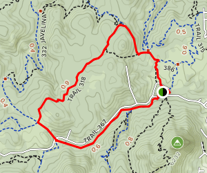 318 West Trail and Trail 367 Loop Map