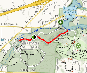 Sharon Woods Gorge Trail  Map