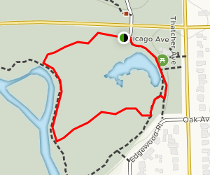 Thatcher Woods Glen Loop Map