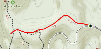 Hickory Trail (Red) Map
