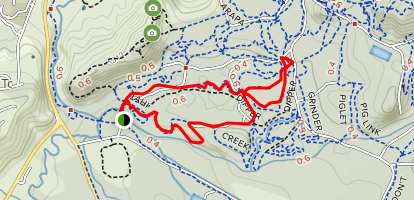 Tahai and Dipper Trails Loop Map