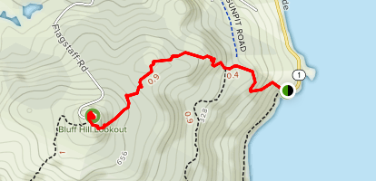 Bluff Hill Lookout via Stirling Point Map