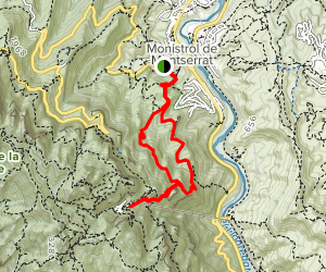 Montserrat Loop via GR-5 and GR-96 Map