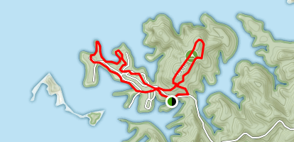 South Holston Lake and Blue Loop Little Oak Mountain Trail  Map