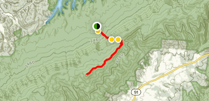Flint Mill Trail to Holston Mountain Fire Tower Map