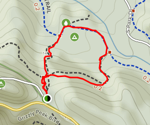 Tower Trail and Grizzly Peak Short Loop to Gillespie Youth Camp Map