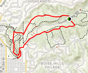 Owl's Roost, Gold Finch and Red Fox Loop Map