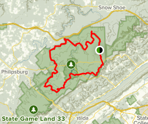 Allegheny Front Trail: Extended Version Map