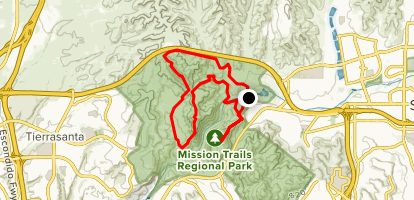 North and South Fortuna and Kwaay Paay Peak Map