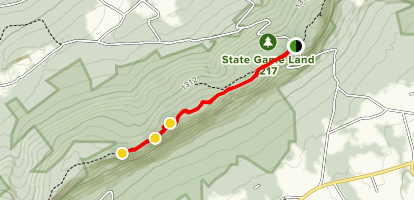 Knifes Edge via Appalachian Trail Map