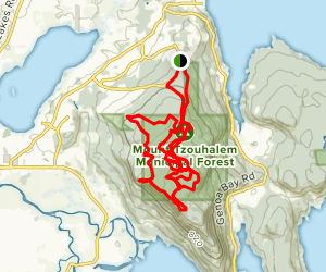 Mount Tzouhalem and Tzouhalem Cross Loop Map
