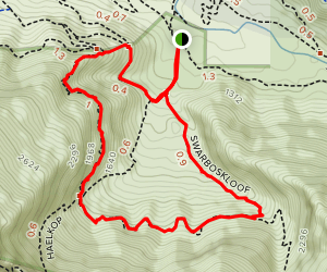 Swarboskloof Trail and Sosyskloof Trail Loop Map
