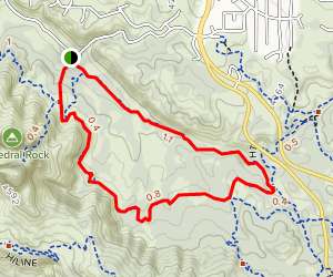 Easy Breezy, Slim Shady, Templeton, Cathedral Rock Loop Map