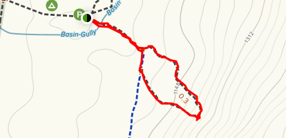 Ben Hall Cave Walking Track Map