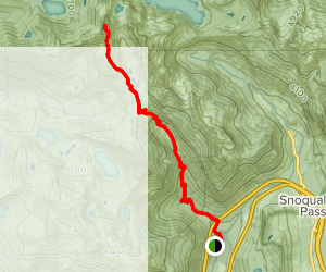 Kaleetan Peak Trail  Map