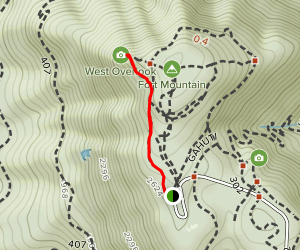 West Overlook Trail Map