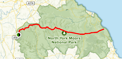 The Lyke Wake Walk Map