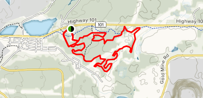 Porcupine Ski Runners Blue and Yellow Trail Loop Map