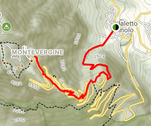 Ospedaletto D'Alpinolo to Sanctuary of Montevergine Map