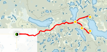 Angling Lakes Trail  Map